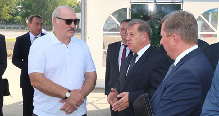 Александр Лукашенко во время рабочей поездки в  Брест 11 августа 2017 года