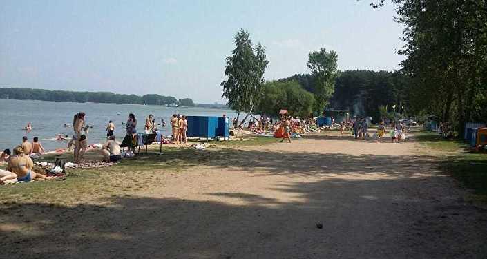 Сітуацыя на пляжы Мінскага мора