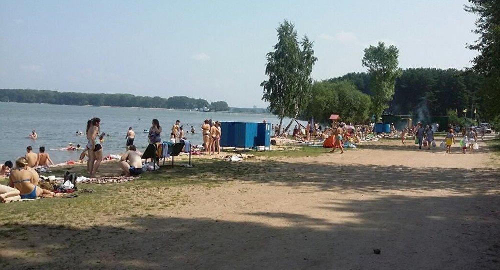 Ситуация на пляже Минского моря