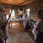 В музее был показан специально восстановленный локальный обряд Выгнанне мух