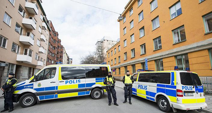 Полиция Швеции, архивное фото