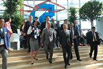 Премьер-министр Беларуси Андрей Кобяков на выставке ЭКСПО-2017 в Астане
