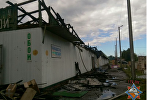 Пожар на рынке в Лепеле 14 августа 2017 года