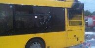 Последствия пожара в автобусе
