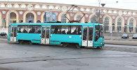 Трамвай на прыпынку Стадыён Дынама