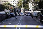Место теракта в центре Барселоны