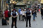 Улица Рамбла в Барселоне, где произошел теракт
