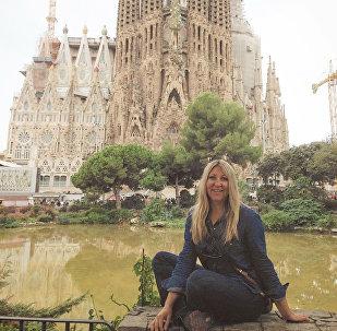 Журналист Ольга Улевич в Барселоне
