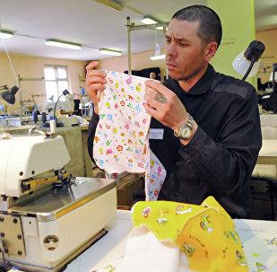 Работа швейной мастерской исправительной колонии