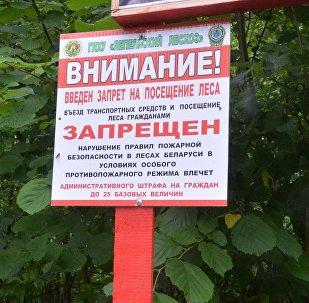 Табличка на въезде в лес