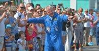 Космонавт Новицкий принял участие в празднике на Боровой