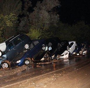 Десятки автомобилей сложились как домино под Судаком