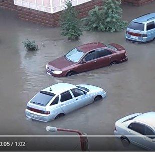 Видеофакт: Красноярск затопило