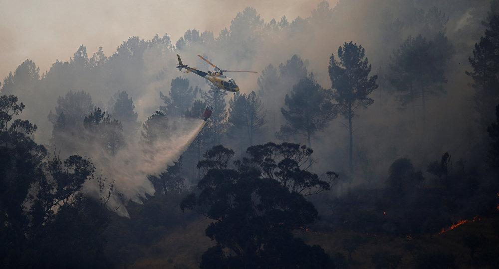 ВПортугалии разбился пожарный вертолёт
