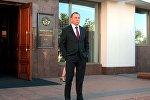 Министр иностранных дел Беларуси Владимир Макей на пороге здания МИД