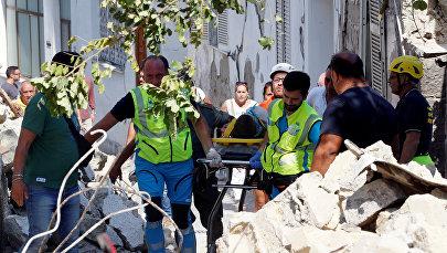 Последствия землетрясения на острове Искья