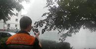 Прорыв теплотрассы при гидравлических испытаниях в Бобруйске