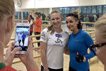 Дарья Домрачева провела показательную тренировку для белорусских звезд