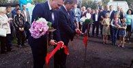 Торжественное открытие колонки в Томске
