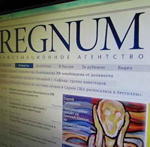 Сайт ИА Регнум