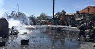 Пожар на складе в Мадриде