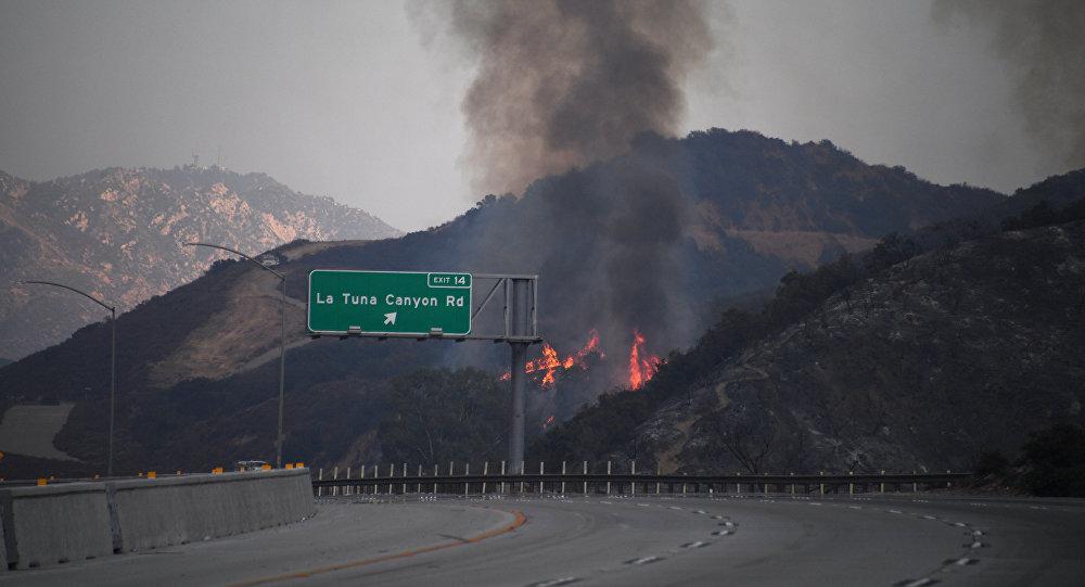 Граждане Лос-Анджелеса вспешке покидают дома из-за лесных пожаров