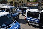 Автомобили полиции в Германии, архивное фото