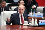 Президент РФ В. Путин на саммите лидеров БРИКС