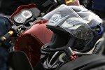 Шлем мотоциклиста, архивное фото