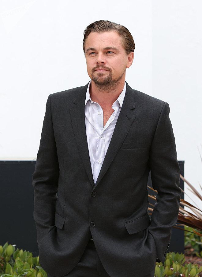 Леонардо Ди Каприо на презентации фильма Великий Гетсби (The Great Gatsby, 2013) в Каннах
