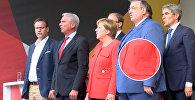 Ангелу Меркель атаковали помидорами
