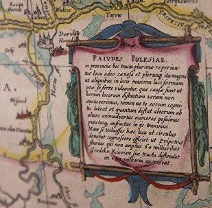 Подпісы на карце Томаша Макоўскага зроблены на лацінскай мове