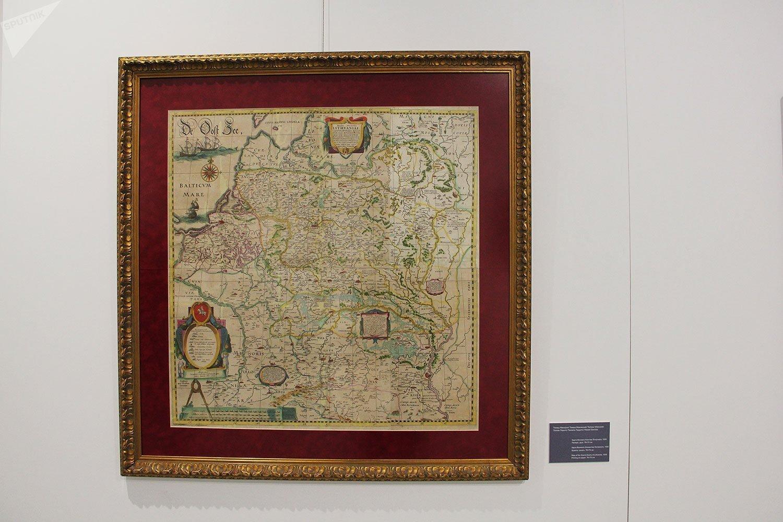 Карта ВКЛ 1630-ыя гады