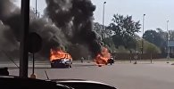 Два автомобиля горели в польском Тересполе