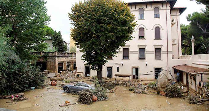 Последствия непогоды в Ливорно