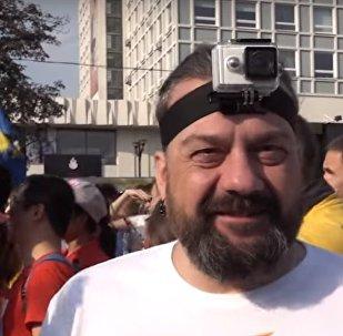 Ведущий радио Sputnik Беларусь Александр Кривошеев на Минском полумарафоне