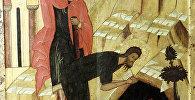 Фрагмент иконы Усекновение главы Иоанна Предтечи второй половины XV века