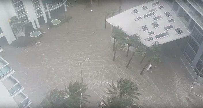 Ураган Ирма обрушился на Майами, видео