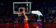 Бросок сверху Андрея Воронцевича в матче 1/8 финала ЧЕ против Хорватии, видео