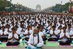 Международный день йоги в Нью-Дели