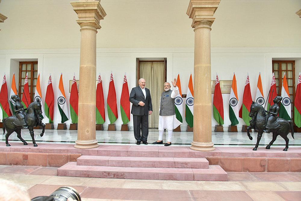 Встреча Александра Лукашенко с премьер-министром Индии Нарендрой Моди