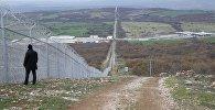 Ограждения на болгарско-турецкой границе возле пограничного контрольно-пропускного пункта Лесово, Болгария