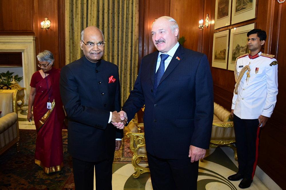 Встреча Лукашенко с президентом Индии Рамом Натхом Ковиндом