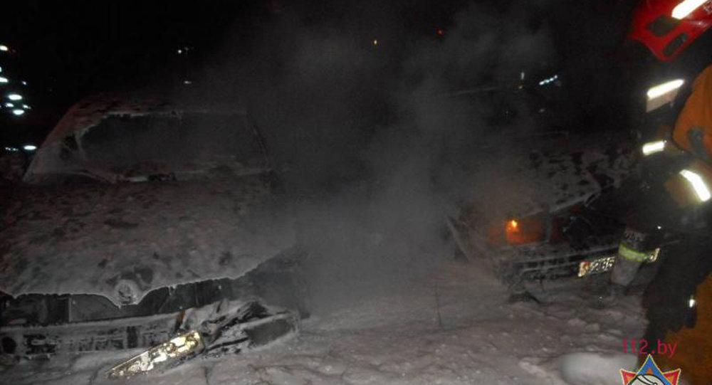Пожар в Бобруйске