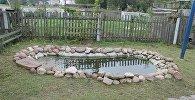 Декоративный пруд, в котором утонула девочка