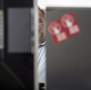 Евгений Касперский в офисе своей компании