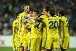Футболисты БАТЭ в матче Лиги Европы против сербской Црвены Звезды