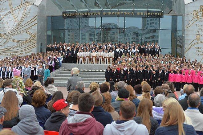 Гала-концерт акции Хоровое вече у Национальной библиотеки