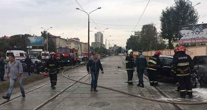 ДТП на улице Платонова в Минске