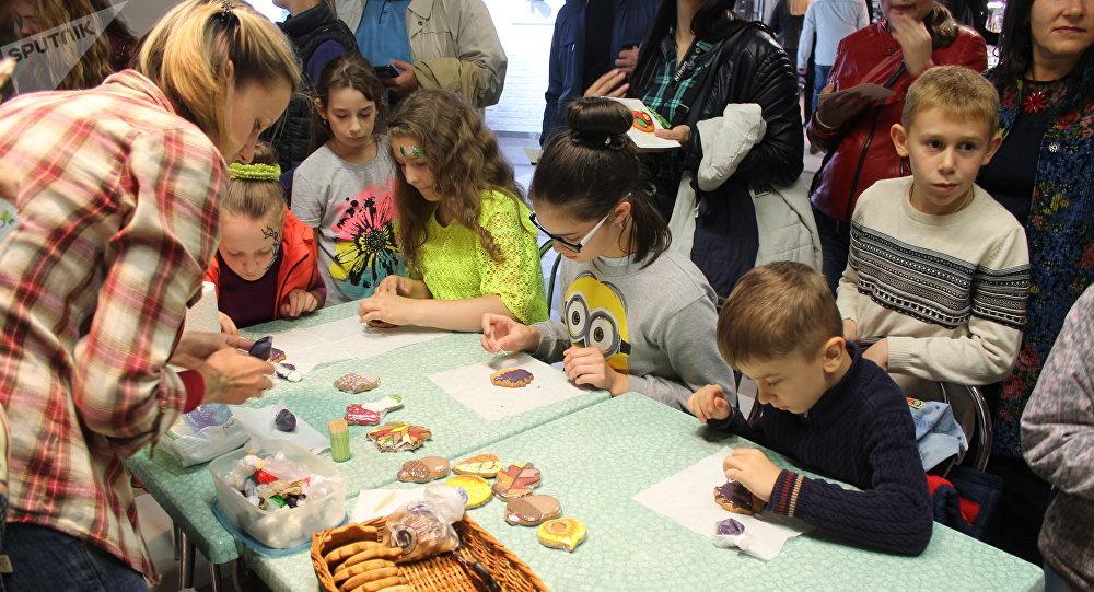 Бесплатный мастер-класс для детей провели в Витебске